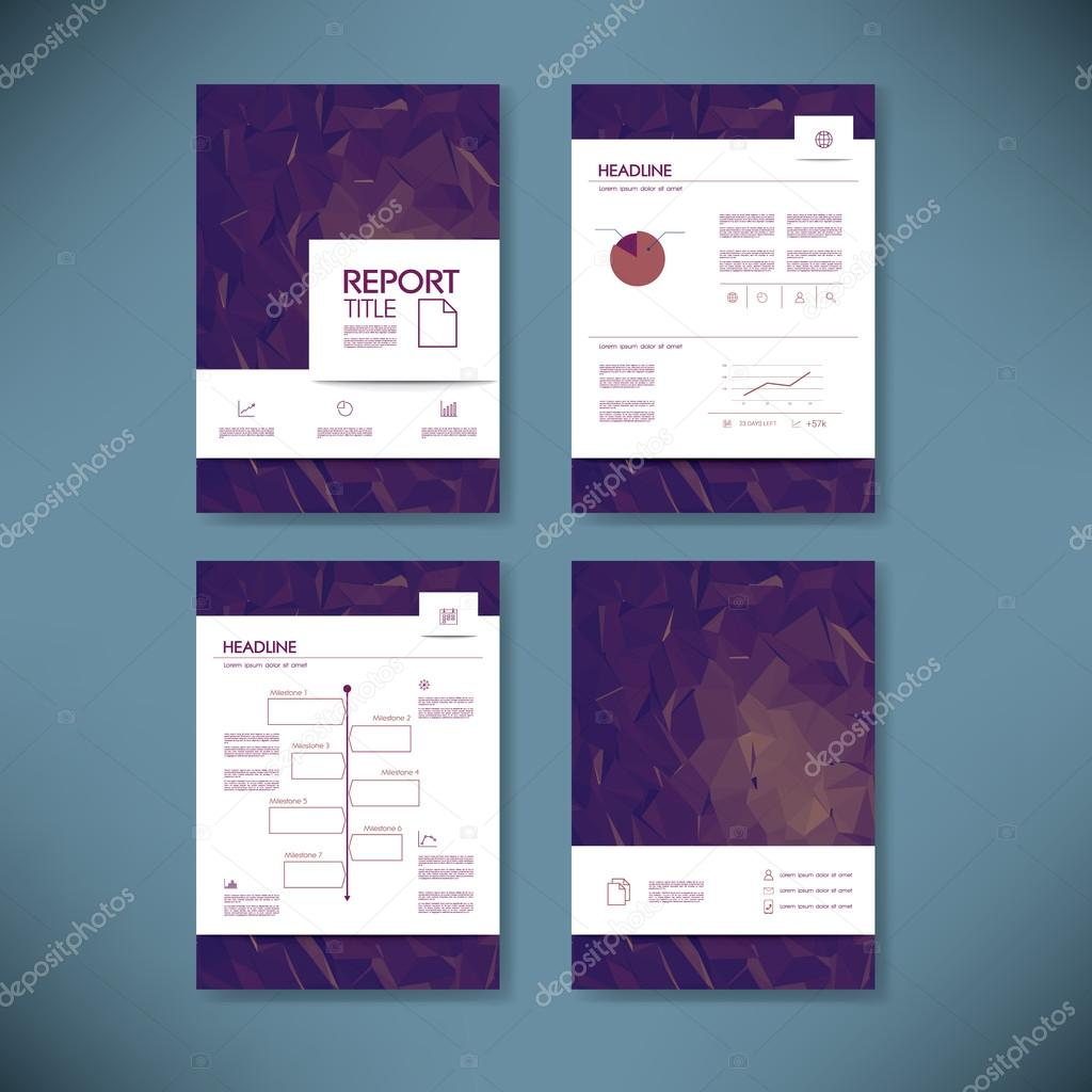 Business annual report template infographics data analysis layout – Business Annual Report Template