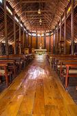 Vecchia chiesa di legno — Foto Stock