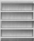 Gray shelves — ストック写真