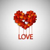 Happy valentines day card, border design. — Stock Vector
