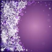 Abstract Christmas background with snowflakes. — Stock Vector