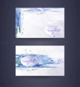 Business cards template. Watercolor design. — Vetor de Stock