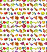 Seamless pattern with fruits. — Stock Vector
