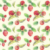 Seamless pattern with strawberries. — Stock Photo