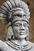 Portrait of Mayan warrior — Stock Photo
