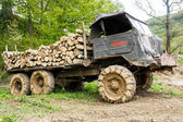 Truck loaded with logs — Stock Photo