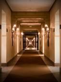 Empty hotel corridor — Stock Photo
