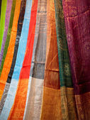 Colorful moroccan cloths — Stock Photo