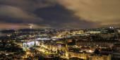 Lisbon Skyline at Night — Stock Photo