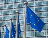 European Union Flags in Brussels — Stock Photo