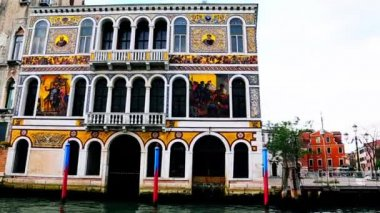 Buildings along Grand Canal — Stock Video
