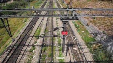 Railroad track in Amritsar — Stock Video