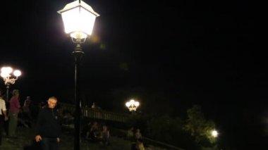 Pan shot of lampposts in Florence — Stock Video