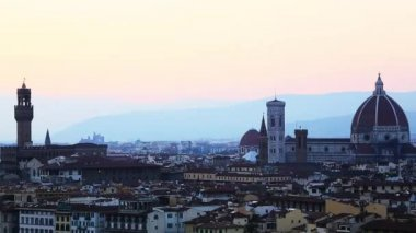 Cityscape with Florence Cathedral — Stock Video