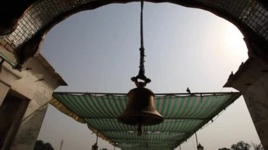 Bell hanging at a Golden Temple — Stock Video