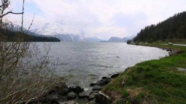 Time lapse of St. Moritz lake — Stock Video