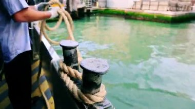 Passanger boat in Grand Canal — Stock Video