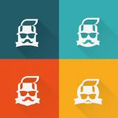 Faces with mustaches — Stock Vector