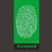Fingerprint Reader — Stockvector