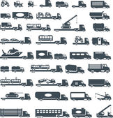 Transportation icons — Vecteur