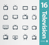 Television icons set — Stock Vector