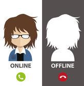 Profile avatar — Stock Vector