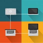 Computer concept icon — Stock Vector