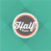Half price Word — Stock Vector