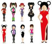Women  icons — Stock Vector