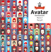 Avatars with Christmas clothes — Stock Vector