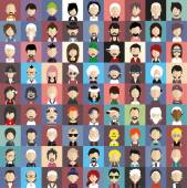 People faces icons — Stockvector