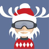 Santa avatar — Stock Vector