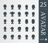 Set of 25 people avatar  icons — Stockvector