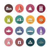 Buildings of Europe Capitals — Stock Vector
