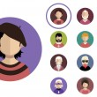 People icons  with faces. — Stock Vector #65860715