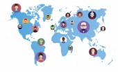 World Networking  people icons — Cтоковый вектор