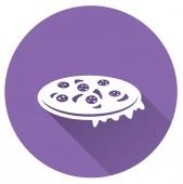 Purple Pizza icon — Stock Vector