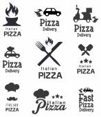 Retro Pizza icons — Stock Vector