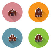 Barn house icons — Stock Vector