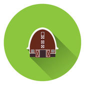 Barn house icon — Vettoriale Stock