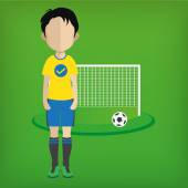 Soccer player ball — Stock Vector