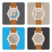 Hand watch icons — Stok Vektör