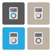 Mp3 player icons — Stock Vector