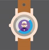 Smart watch icon — Stock Vector