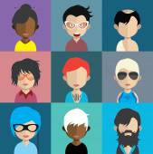 Set of people icons — Stock Vector