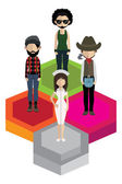 People characters in flat style . — Stock Vector