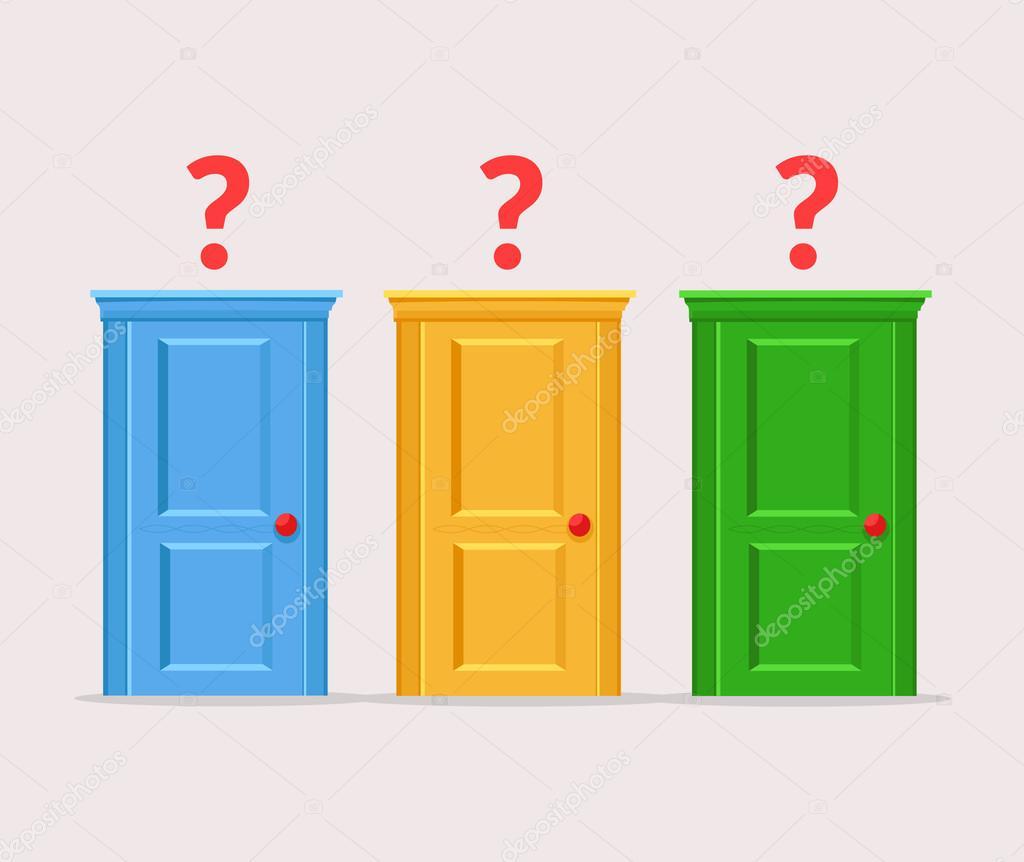 Puertas de decisiones dif ciles ilustraci n de dibujos - Dibujos de puertas ...