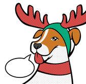 Christmas reindeer. Vector illustration — Stock Vector