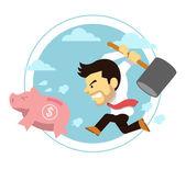 Business crisis. Vector flat illustration — Stock Vector