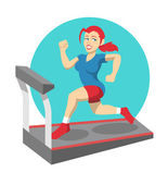 Vector fitness flat illustration — Stock Vector